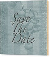 Lily Of The Valley Save The Date Greeting Card Wood Print