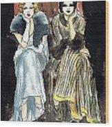 Lilyan And Kay 2 Wood Print