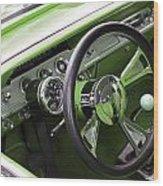 Lime Chevy Impala  Wood Print