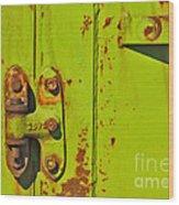 Lime Hinge Wood Print