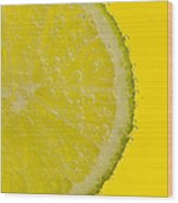 Lime Slice Soda 1 Wood Print