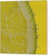 Lime Slice Soda 2 Wood Print