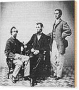 Lincoln & Secretaries, Wood Print