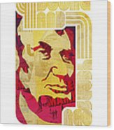 Lincoln 4 Score On White Wood Print by Jeff Steed