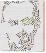 Lincoln As Word Cloud Wood Print