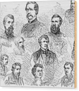 Lincoln Assassins Trial Wood Print