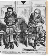 Lincoln Cartoon, 1864 Wood Print