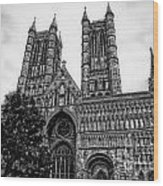 Lincoln Cathedral Facade Wood Print