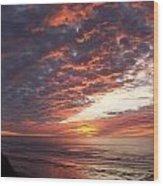 Lincoln City Sunset Wood Print