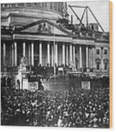Lincoln Inauguration, 1861 Wood Print by Chicago Historical Society