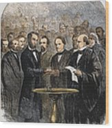 Lincoln Inauguration, 1865 Wood Print by Granger