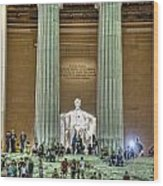 Lincoln Memorial Steps Wood Print