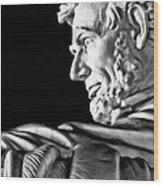 Lincoln Profile Wood Print
