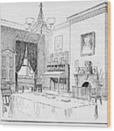 Lincoln: White House Office Wood Print