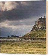 Lindisfarne Castle, Beblowe Crag Wood Print