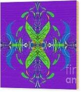 Linear Movement In Purple Wood Print