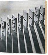 Lined Up Dominoes Wood Print by Victor De Schwanberg