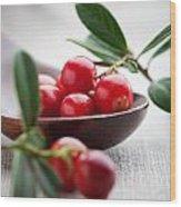 Lingonberries Wood Print