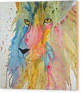 Lion Head 3 Wood Print