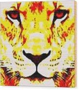 Lion In Winter Wood Print