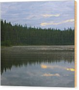 Lion Lake Montana Sunrise Wood Print