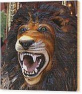 Lion Merry Go Round Animal Wood Print