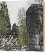 Lion Sculpture Wood Print