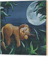 Lion Sleeps Tonight Wood Print