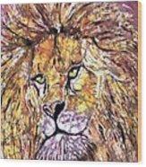 Lion1 Wood Print