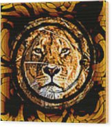 Lioness Face Wood Print