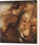 Lioness Love Wood Print