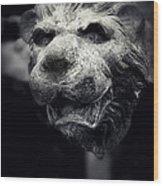 Lions Head 2 Wood Print