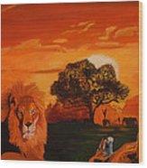 Lions Love Life Wood Print