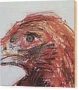 Lipstick Eagle Wood Print by Iris Gill