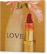 Lipstick Love Wood Print