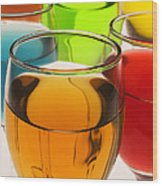 Liquor Glasses Wood Print