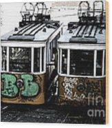 Lisbon Tram Wood Print by Gabriel Calahorra
