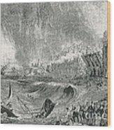 Lisbon Tsunami, 1755 Wood Print