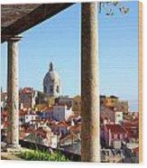 Lisbon View Wood Print by Carlos Caetano