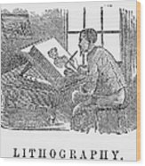 Lithography, 19th Century Wood Print