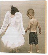 Little Angels Wood Print