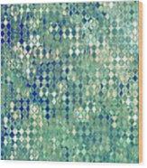 Little Blue Diamonds Wood Print