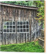 Little Brown Shed Wood Print