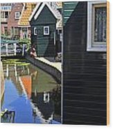 Little Dutch Houses Wood Print