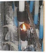 Little Flame Wood Print