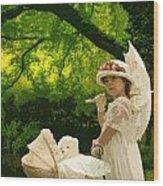 Little Girl Yesteryear Wood Print