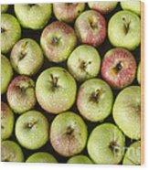 Little Green Apples Wood Print