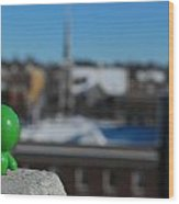 Little Green Man 1 Wood Print