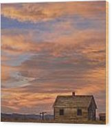 Little House On The Colorado Prairie Wood Print