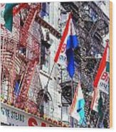 Little Italy In Color Wood Print